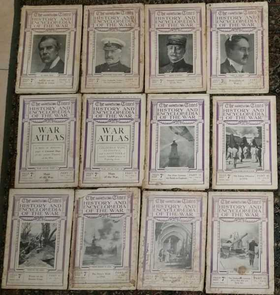 The Times History and Encyclopaedia of The War (12 parts, 1915-1916)