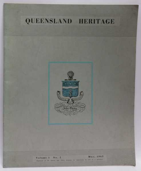 Queensland Heritage Volume 1 No. 2 (May, 1965), Oxley Memorial Library Advisory Committee
