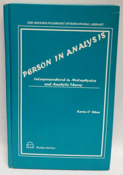 Person In Analysis, Kevin O'Shea