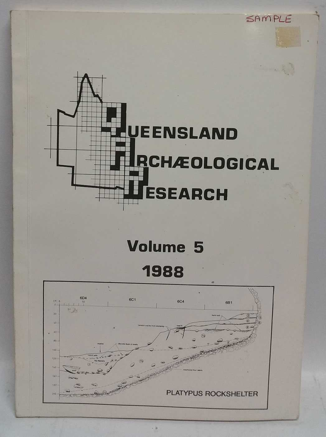 "Queensland Archaeological Research Volume 5, 1988, H. ""Jay"" Hall"