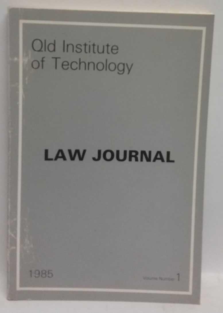 Queensland Institute of Technology Law Journal Vol. 1, Carmel MacDonald