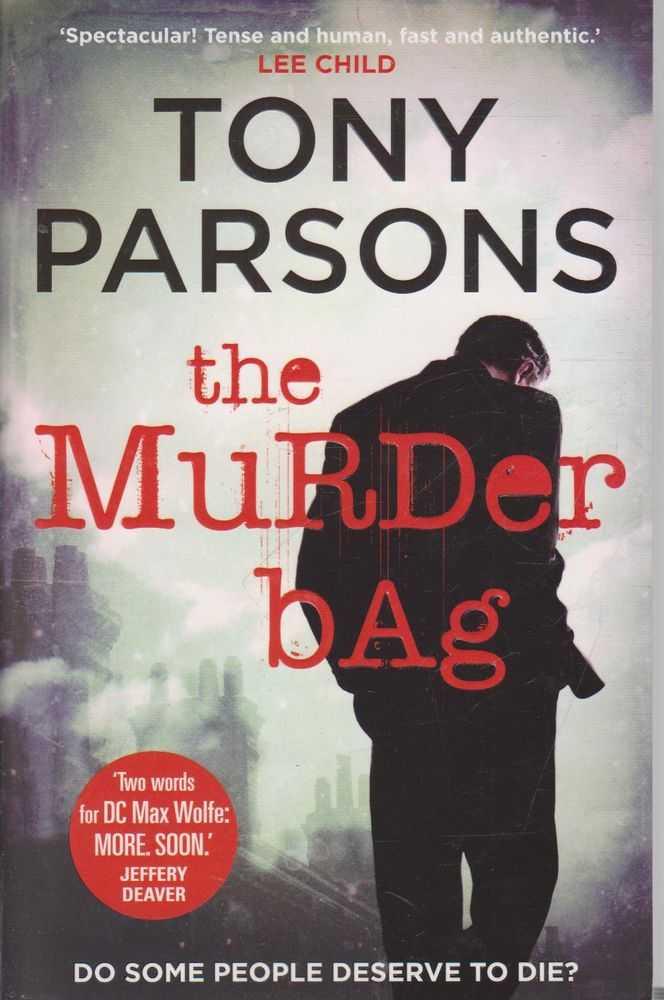 TONY PARSONS The Murder Bag 2014 SC Book